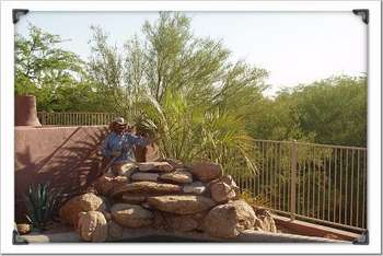 Decorative gravel, rocks, boulders, curbing, pavers.